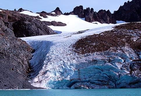Glaciar del Cajon de Azul
