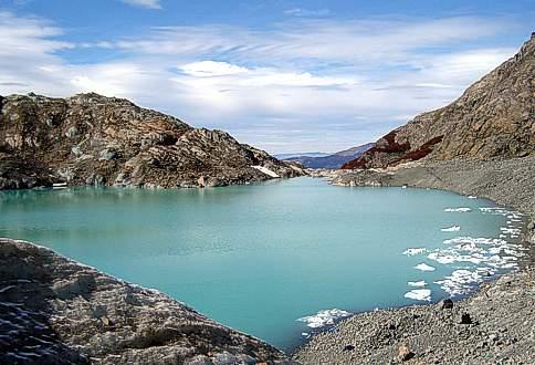 Laguna del Glaciar del Hielo Azul El Bolson Patagonia Argentina