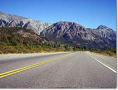 Acceso norte a El Bolson Ruta 40, desde Bariloche