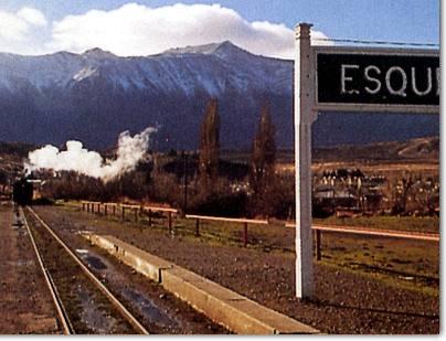 Tren llegando a la terminal de Esquel