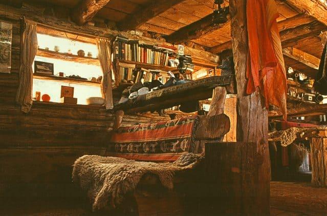 Interior del Refugio El Retamal